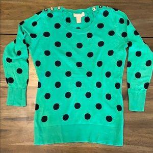 GUC Banana Republic Green Polka Dot Shirt